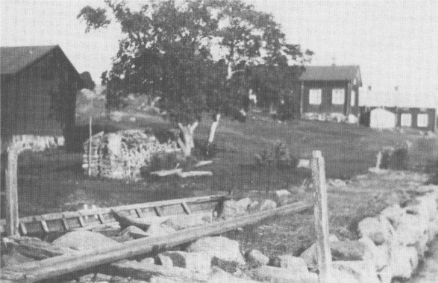 Rester av den gamla sjöbron 1923